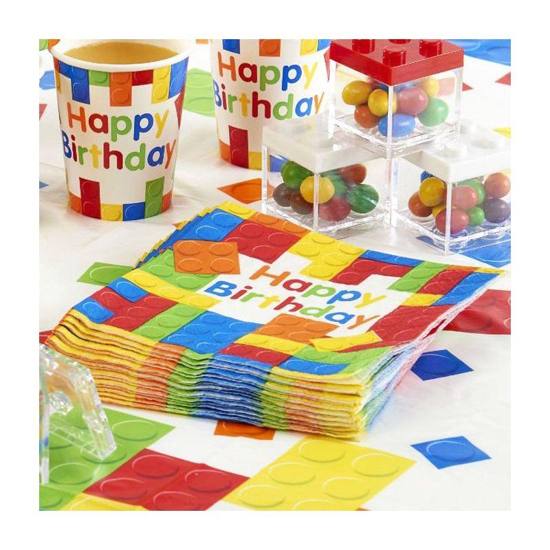 Serviette table LEGO party lot de 20