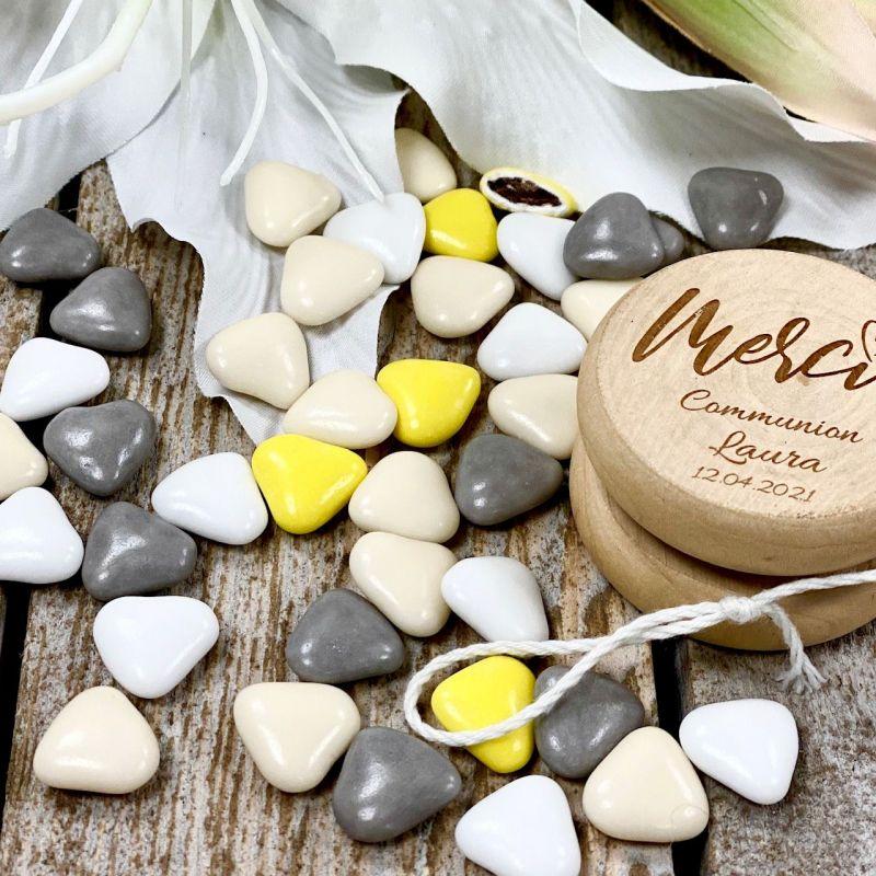 Dragées Coeurs chocolat thème Vintage - 500gr